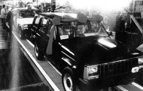 国产切诺基下线仪式-透过模型看历史 北京40背后的汽车梦高清图片