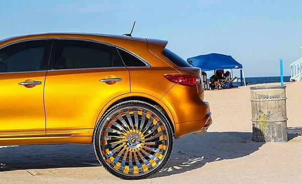 金色英菲尼迪fx配32英寸forgiato轮毂宝马2系发动机盖怎么开图片